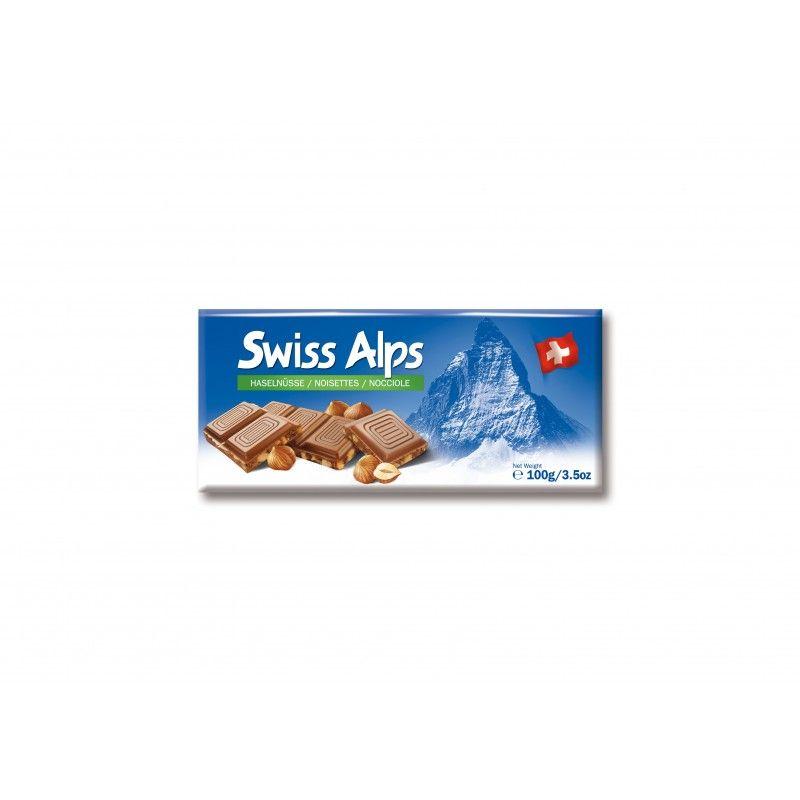 Tablette de chocolat au laitet aux noisettes Swiss Alps