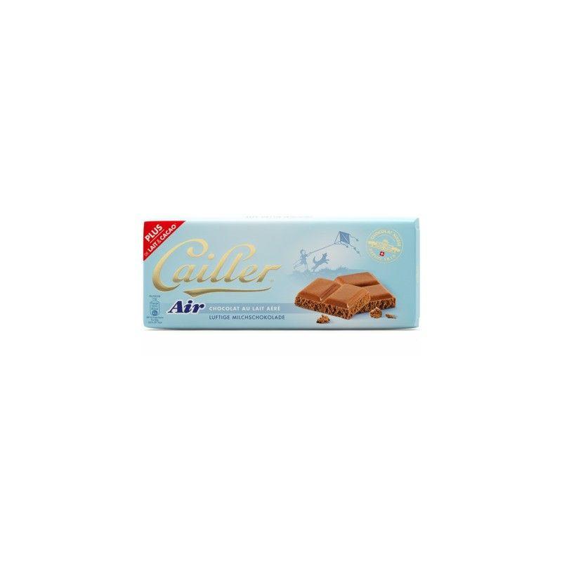 Tablette de chocolat suisse au lait aéré