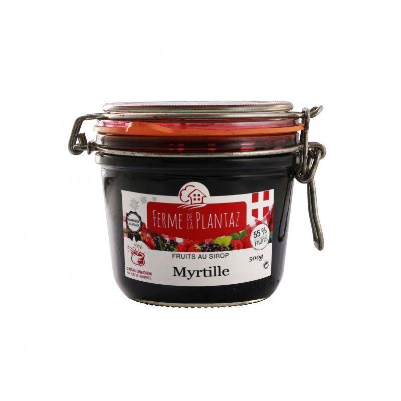 Myrtilles au sirop