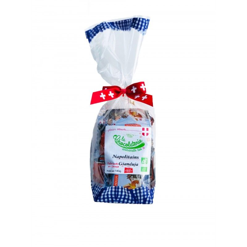 Napolitains de chocolat au laitgianduja bio