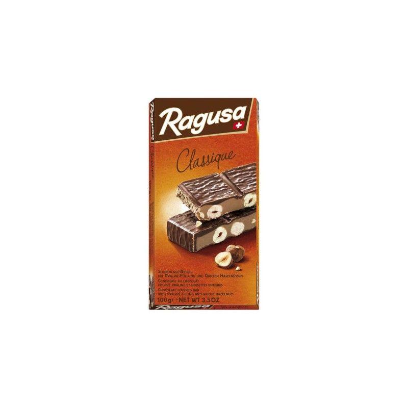 Confiserie au chocolat suisse 100% naturel fourré praliné et noisettes entières