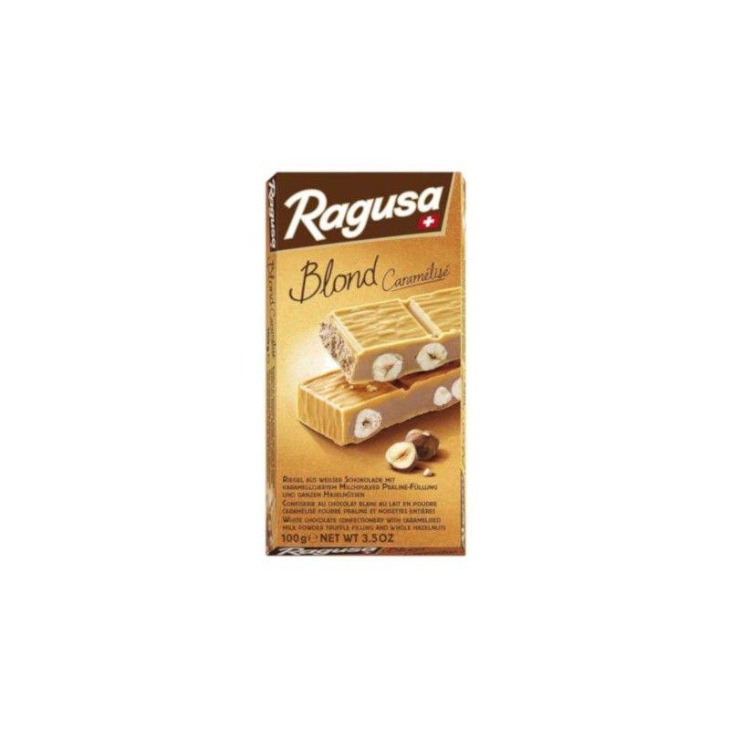 Confiserie au chocolat blanc au lait en poudre caramélisé suisse 100% naturel fourré praliné et noisettes entières