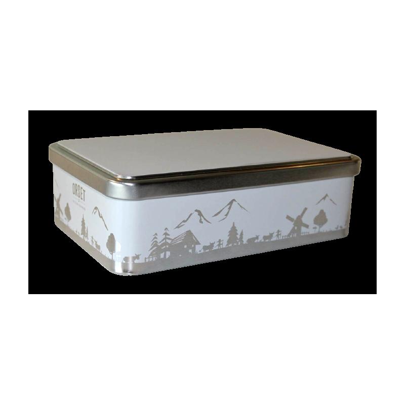Boîte métal plaque de ville à personnaliser avec sablés assortis